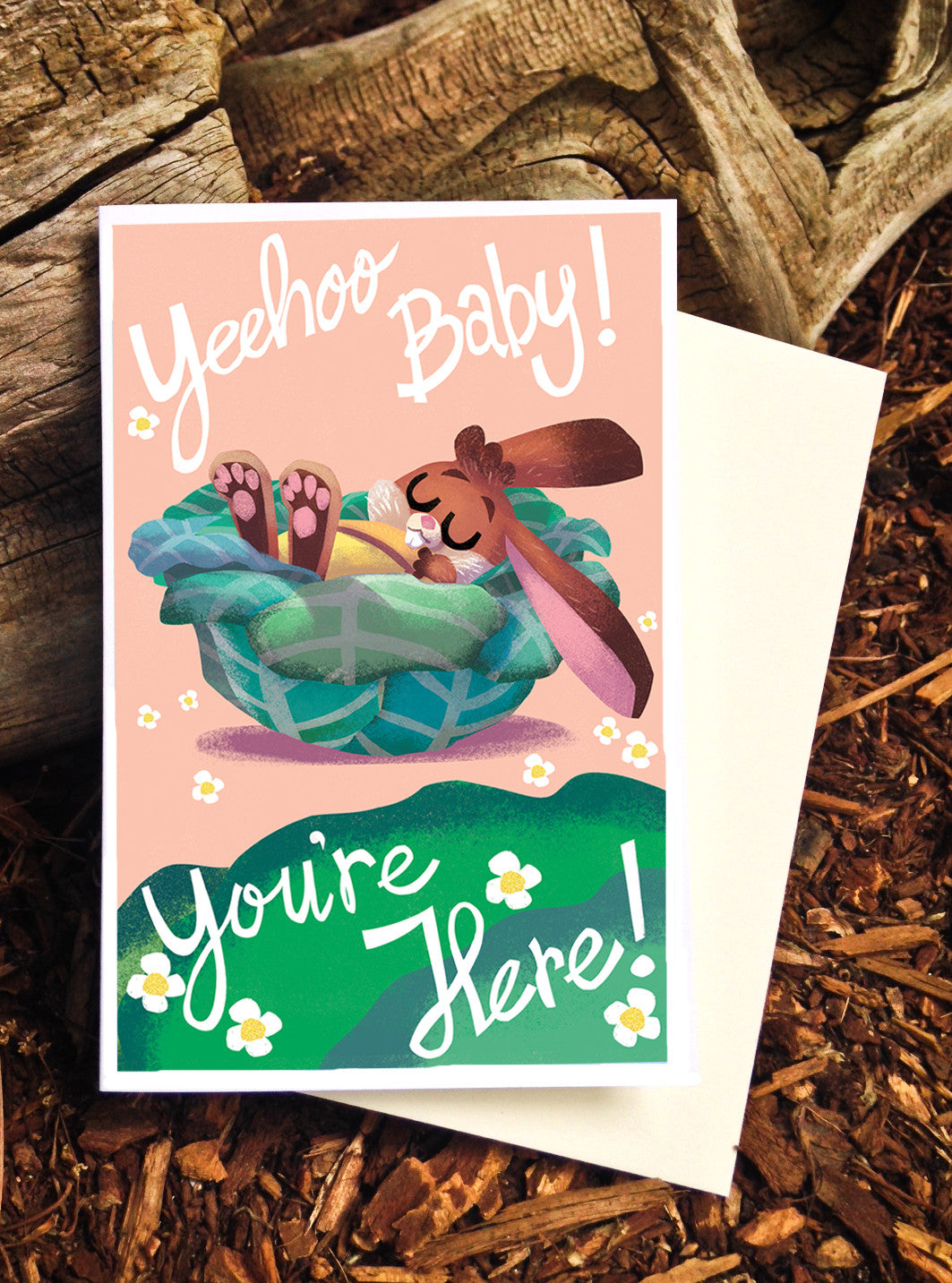 Yeehoo baby, you're here! Bunny - Card