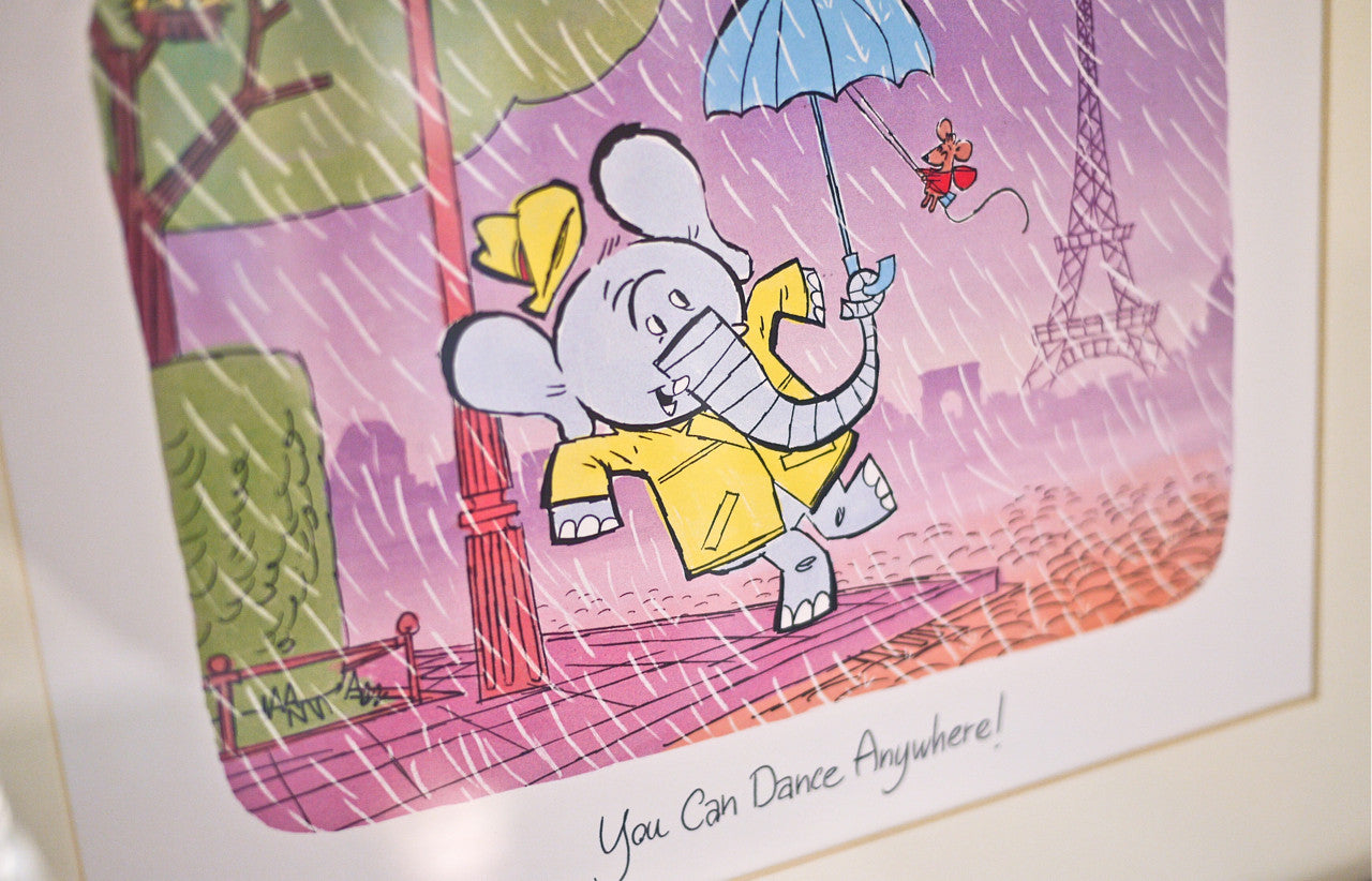 You Can Dance Anywhere! Paris Print for kids - 8