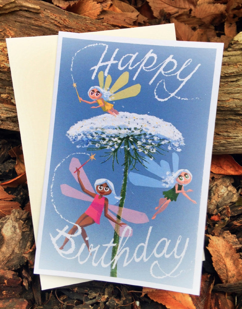 Fairy Birthday Card - Scratch n' Sniff Series