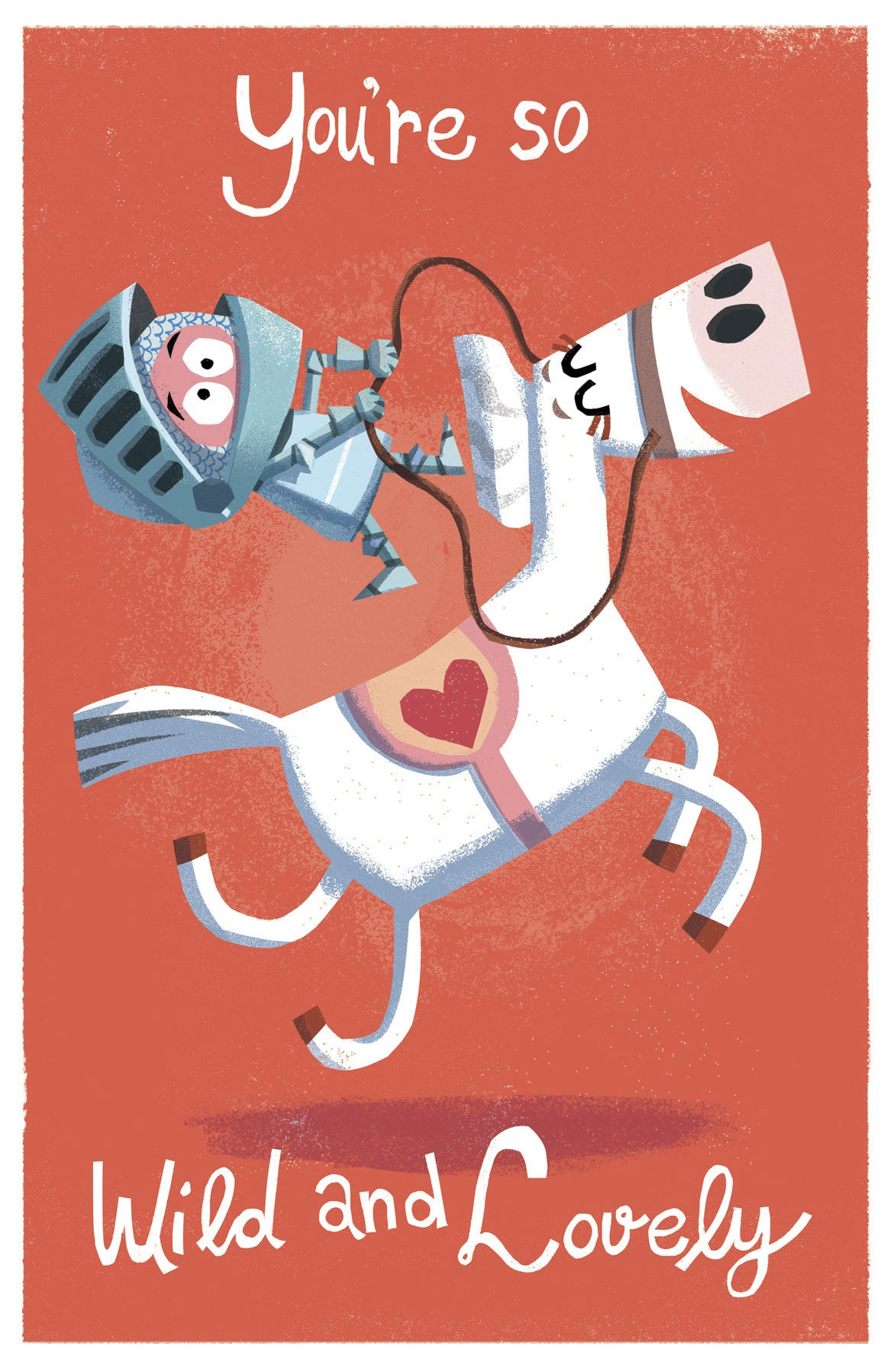 Knight and Horse Love Card
