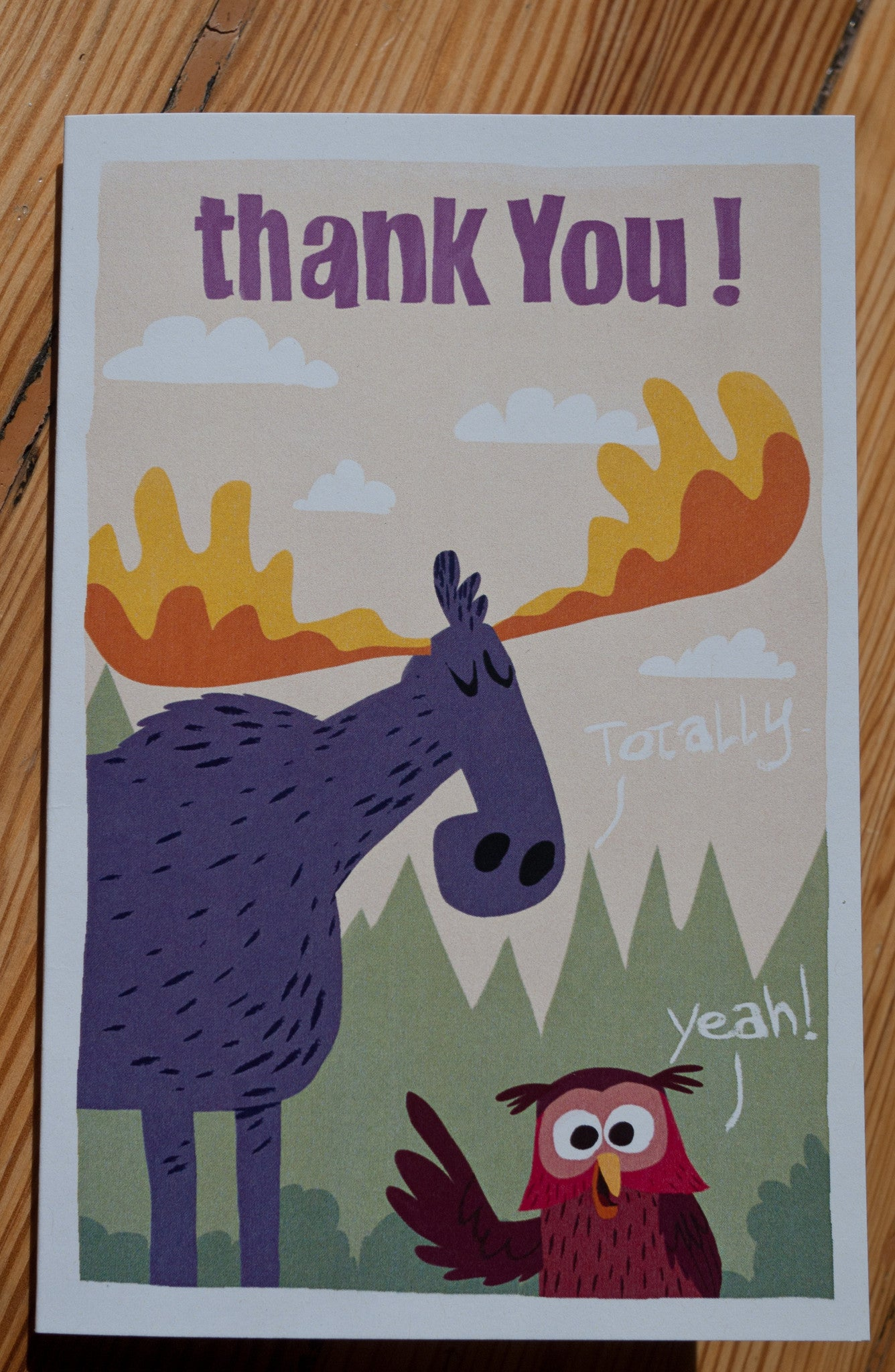 Moose & Owl Thank You Card - Scratch n' Sniff Series