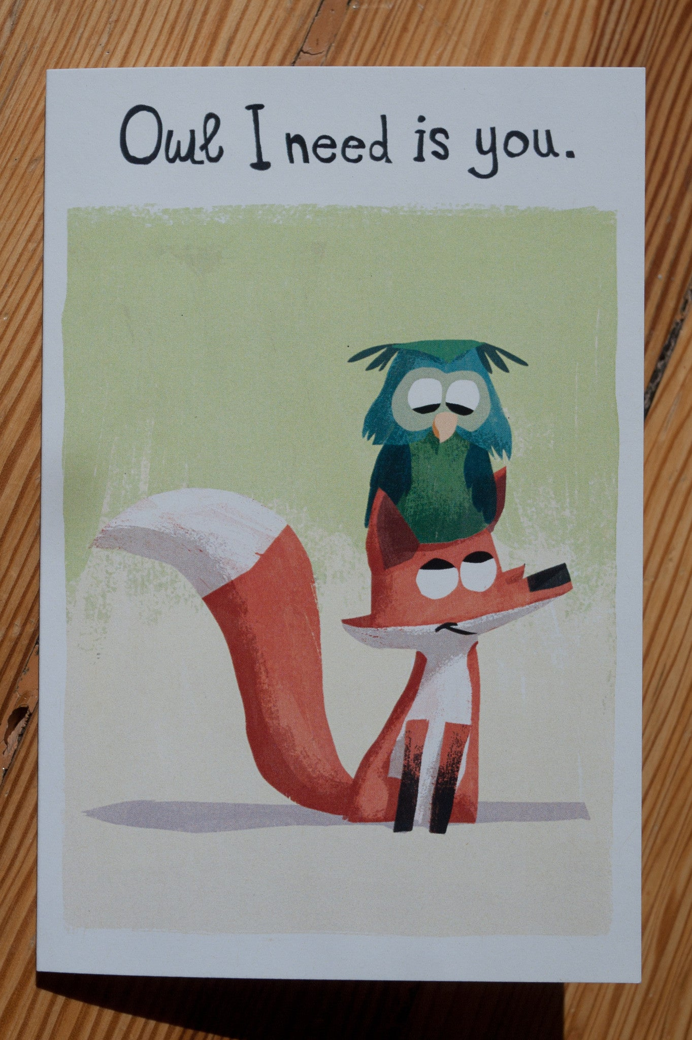 Fox and Owl Card