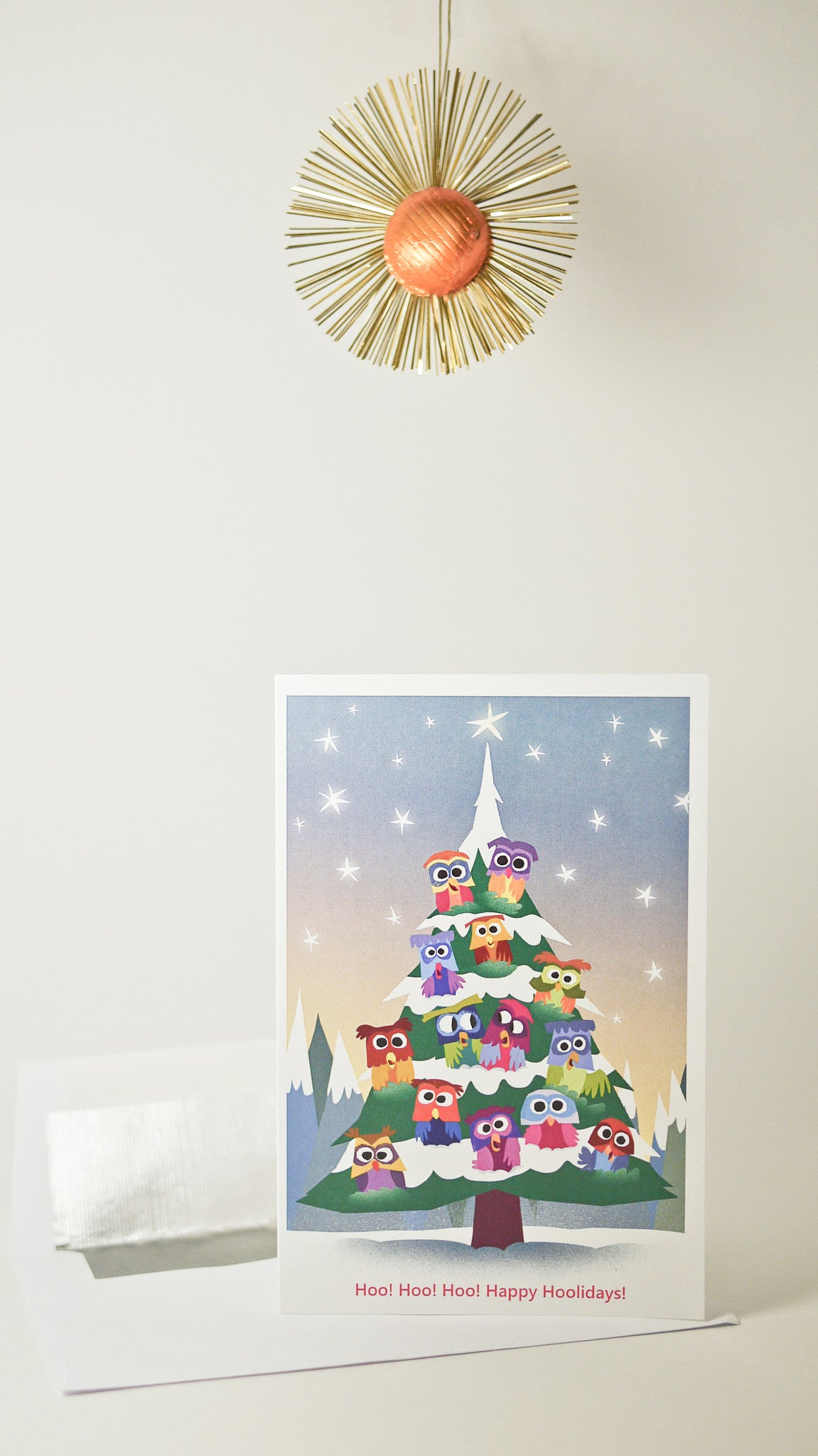 owl christmas tree card - Christmas Tree Card