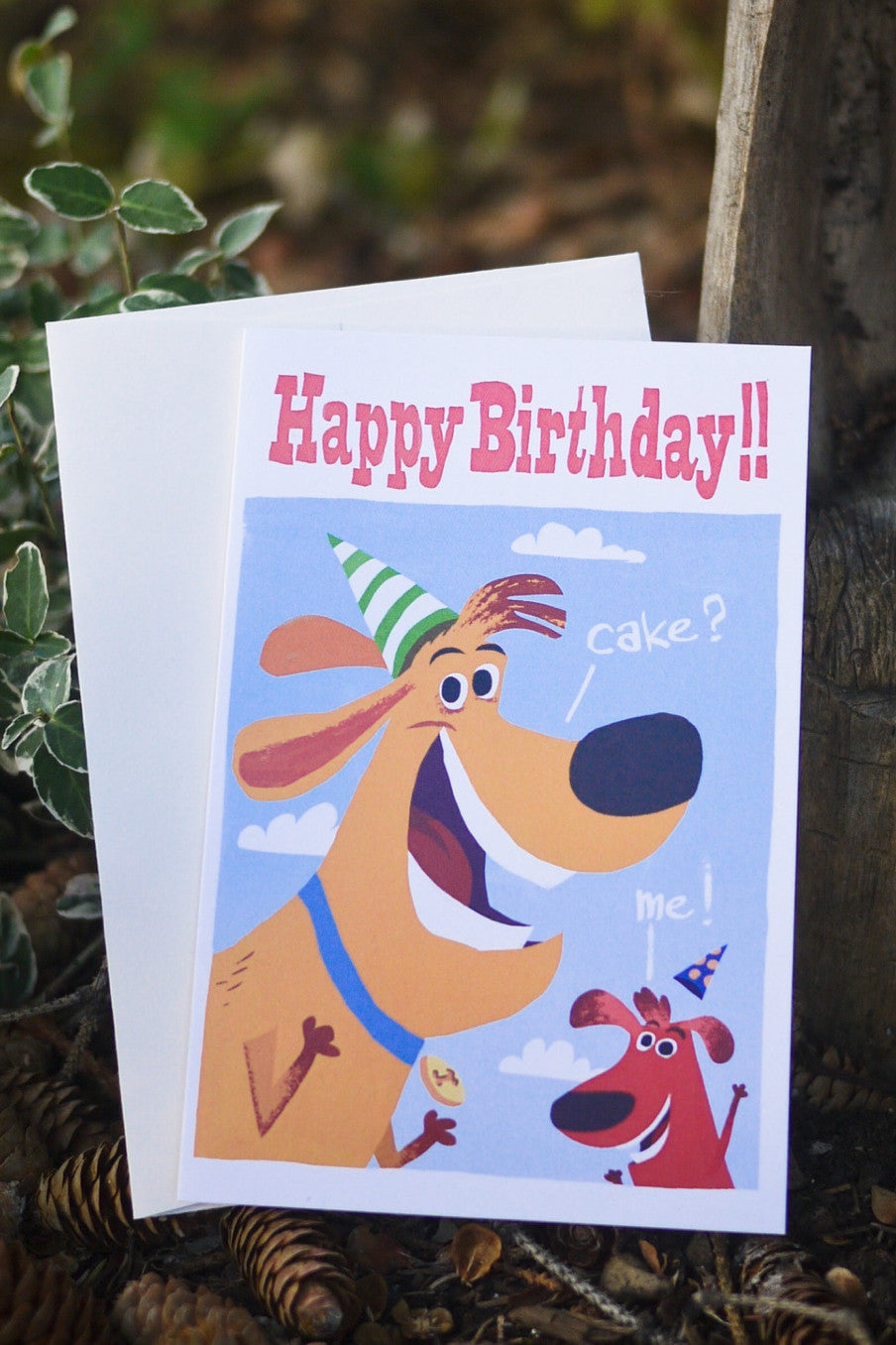 Birthday Cake Dogs Card - Scratch n' Sniff series
