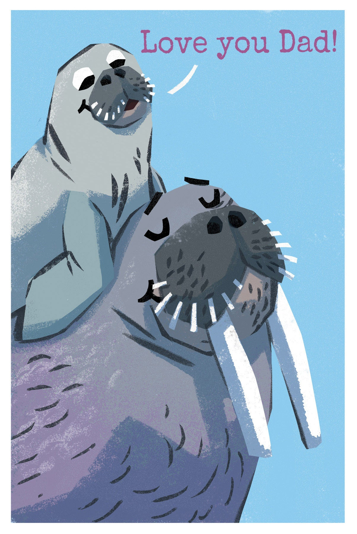 Walrus Father's Day Card