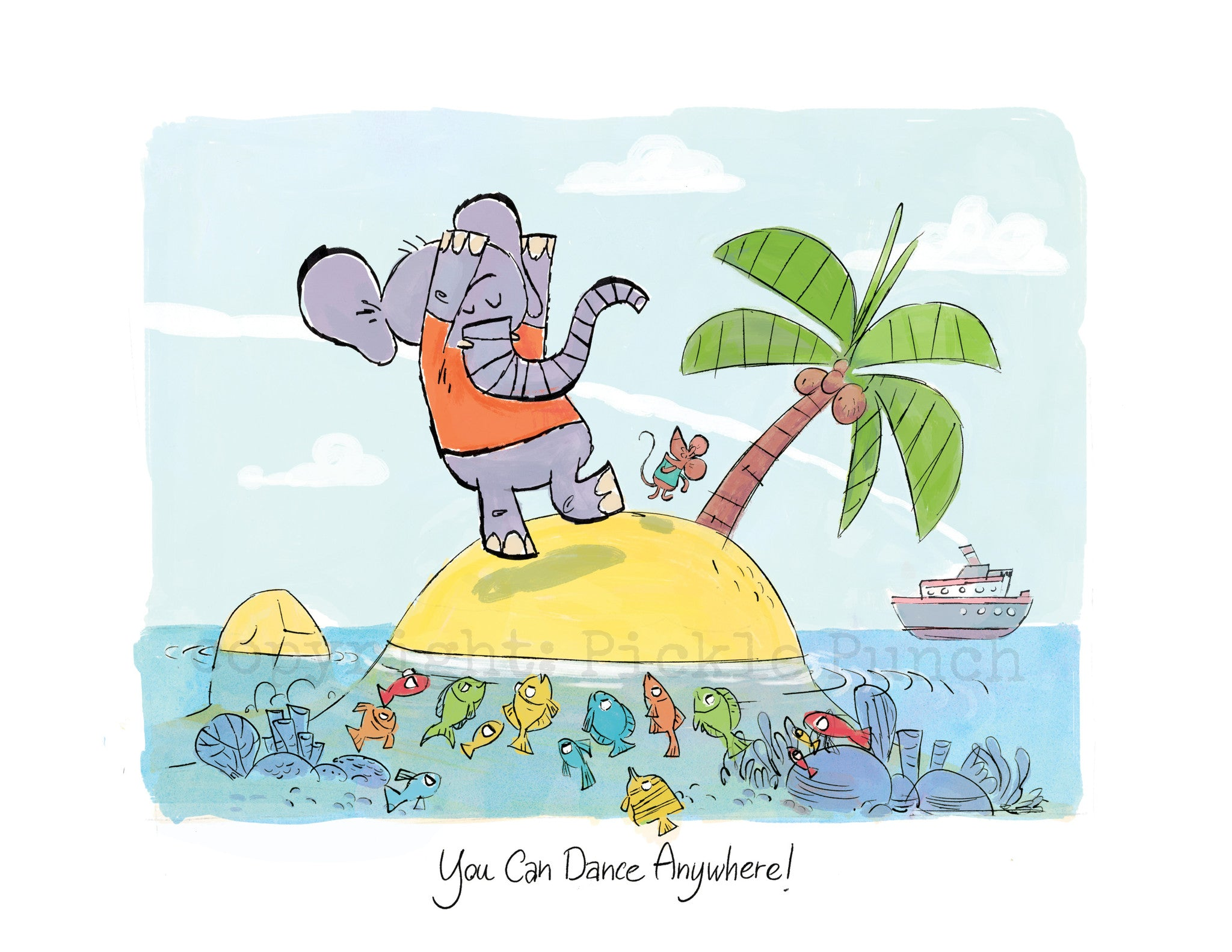 You Can Dance Anywhere! Caribbean Island Print - 8