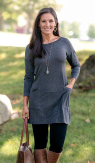 always a favorite tunic olive