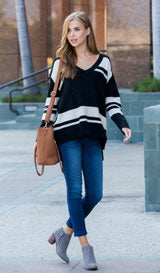 striped sweater for women