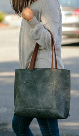 large grey tote