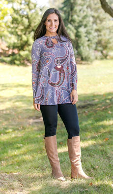 women's paisley tunic