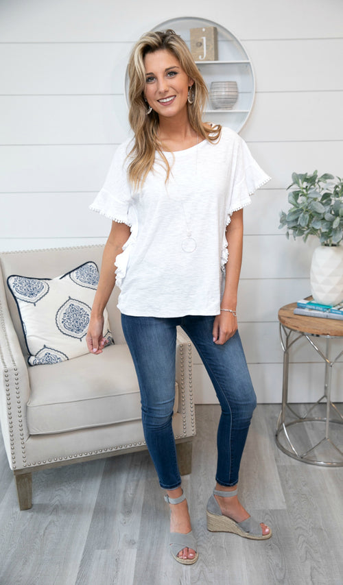 Sun Chaser Top, White