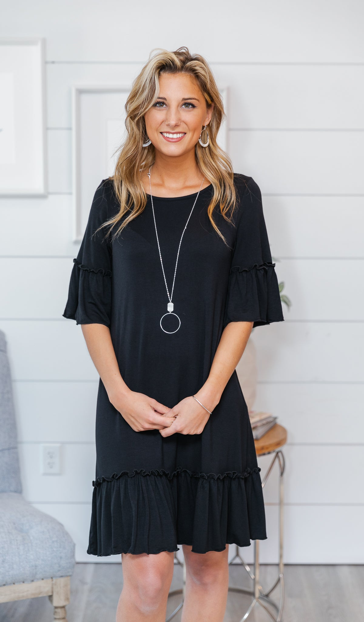 Wherever You Will Go Dress, Black