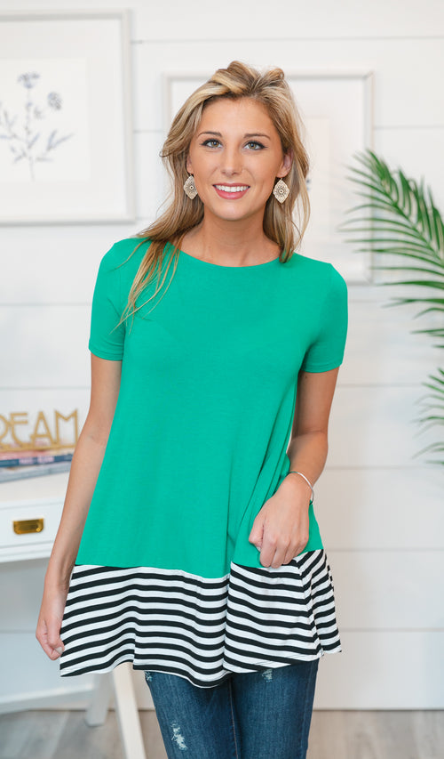 Blocked Out Top, Kelly Green