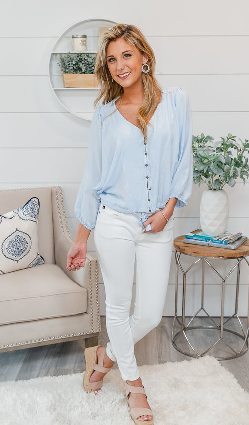 Cape Cod Dreaming Top- Blue