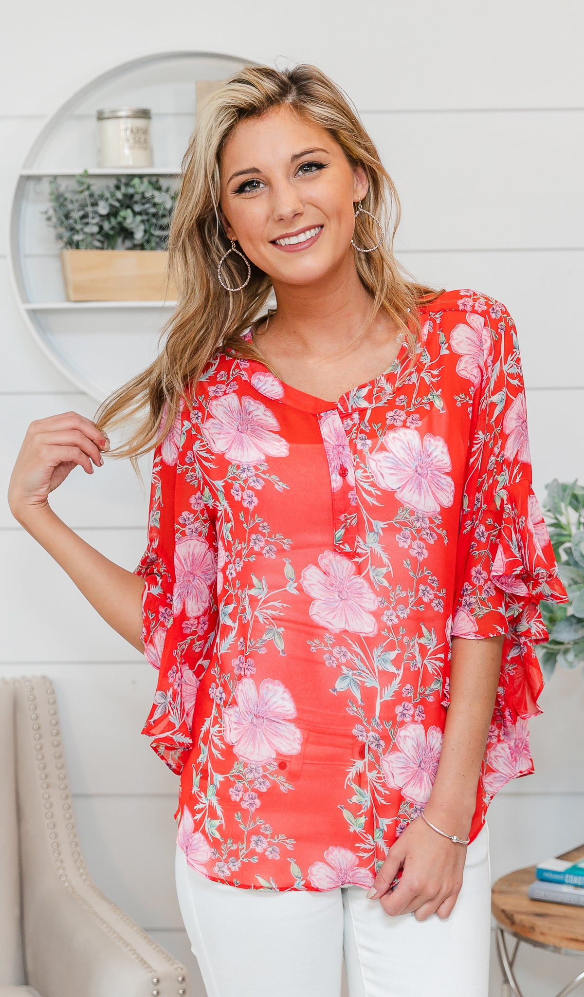 Spring Days Top-Red