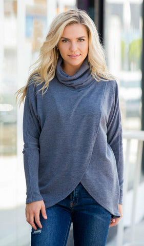 Hayden Striped Sweater Top - Oatmeal, Charcoal
