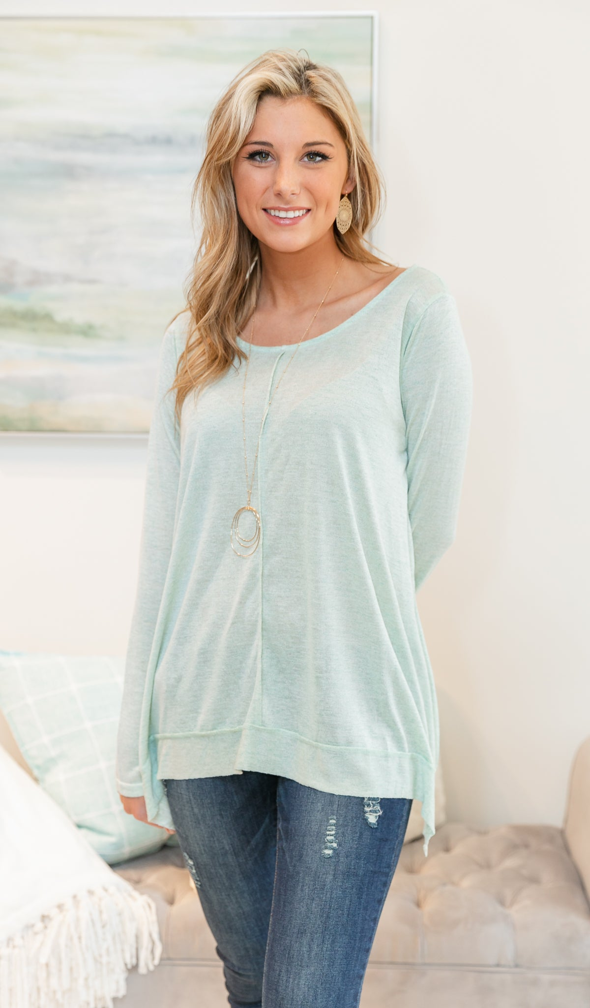 Easy Like Sunday Top, Sage