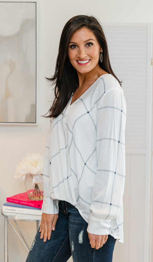 Floral Surprise Top in Heather Grey SPT261
