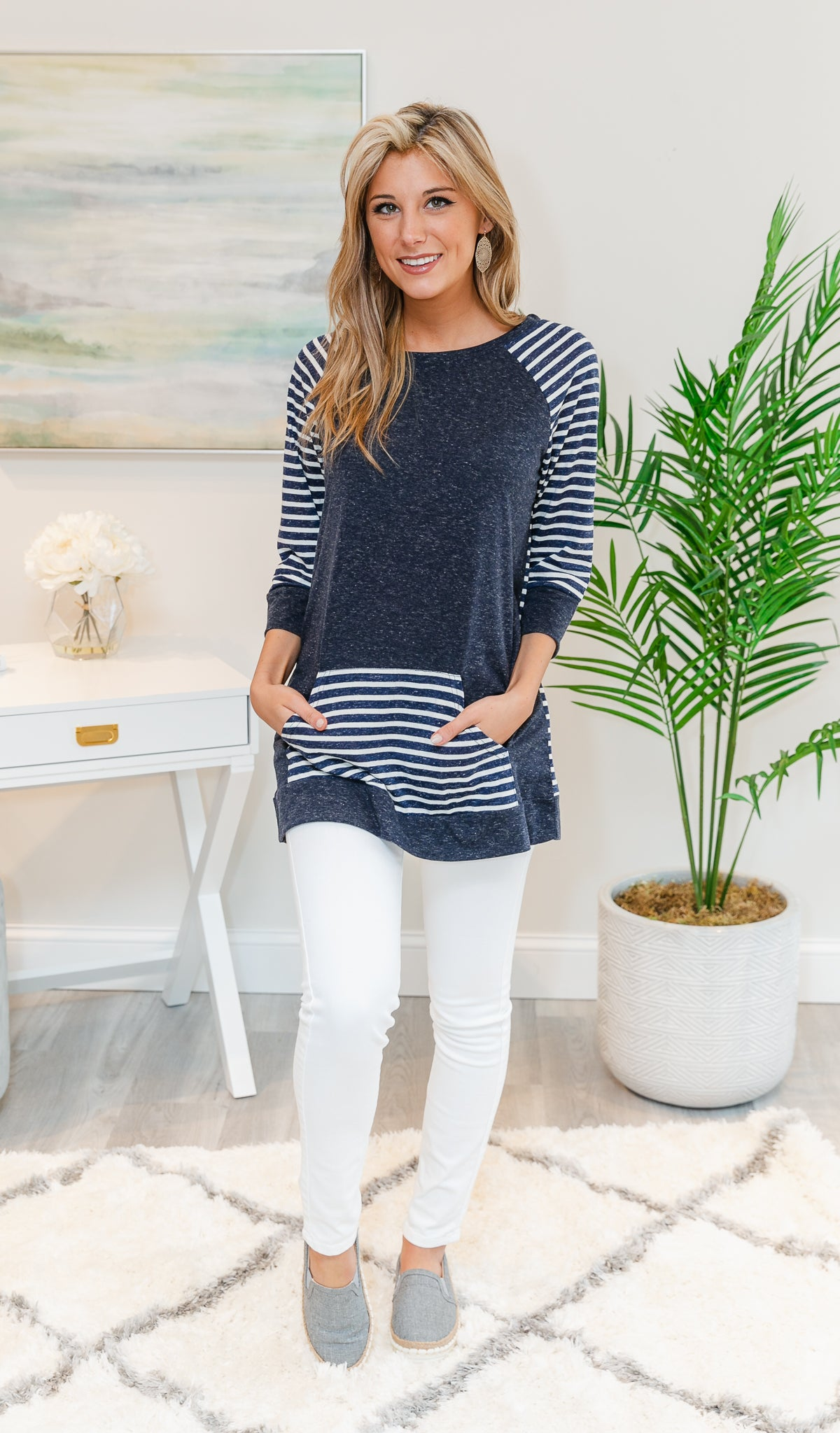 Loving the Lines Striped Tunic SPT402