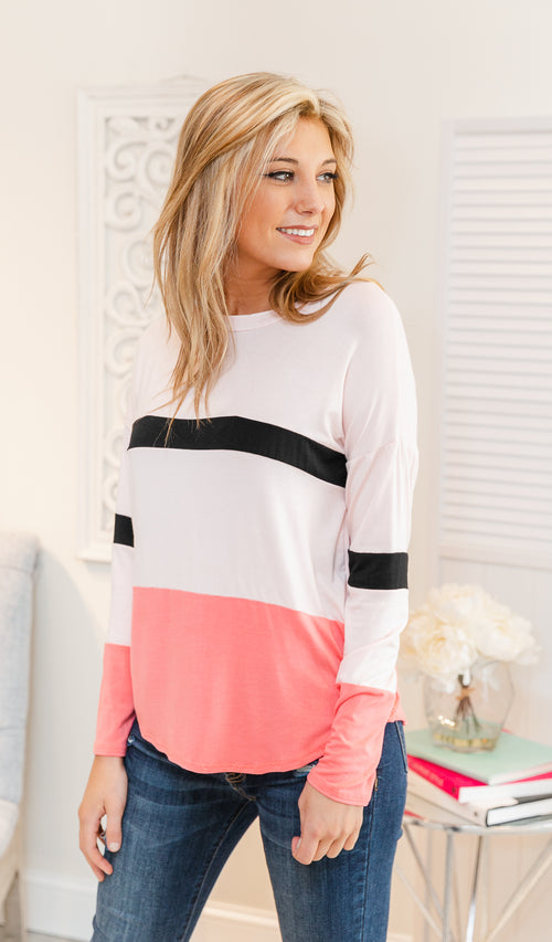 Always A Good Day Top - Blush, Coral