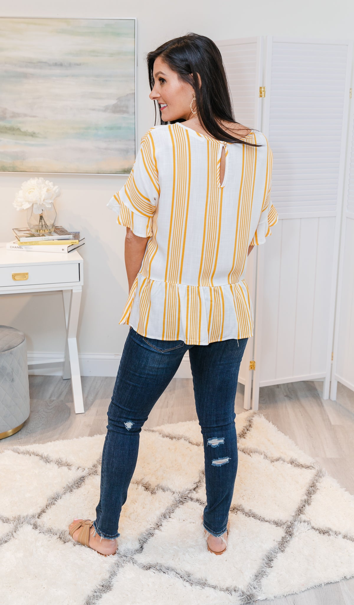 Some Kind Of Wonderful Top, Mustard Stripe