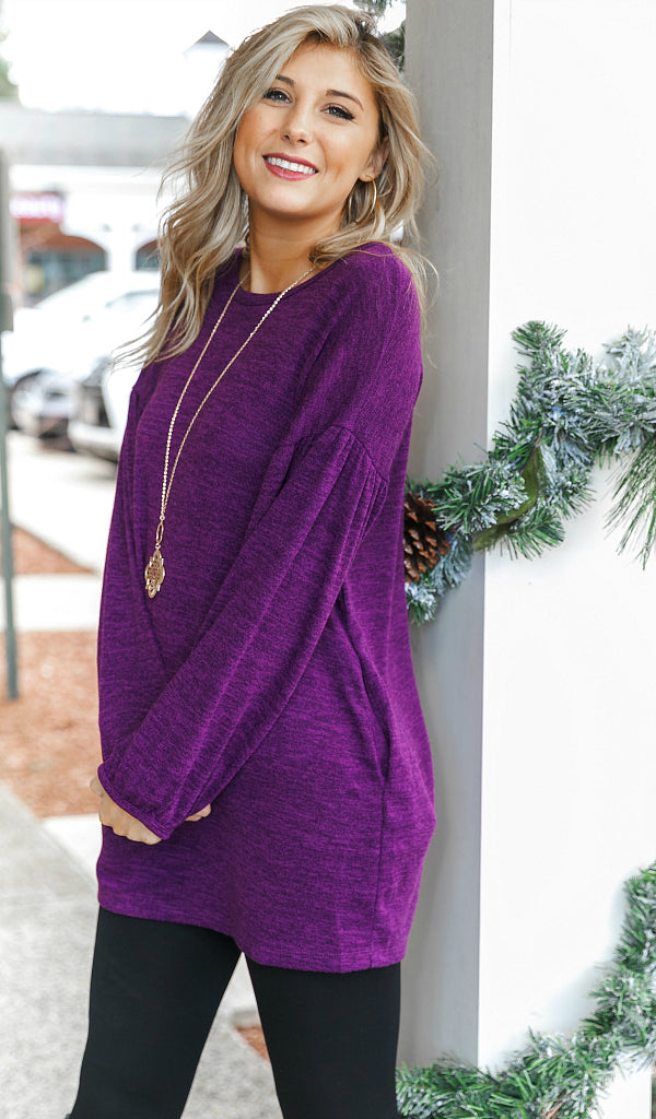 The Penley Super Soft Tunic, Eggplant