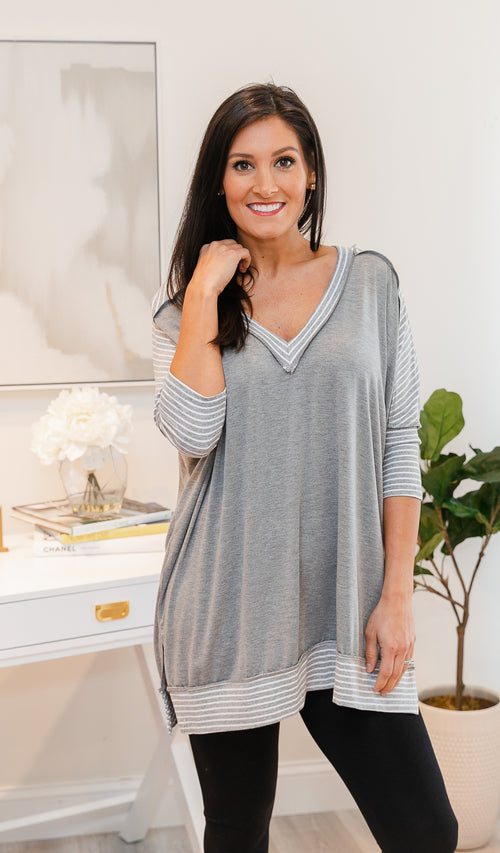 All The Right Moves Tunic, Grey