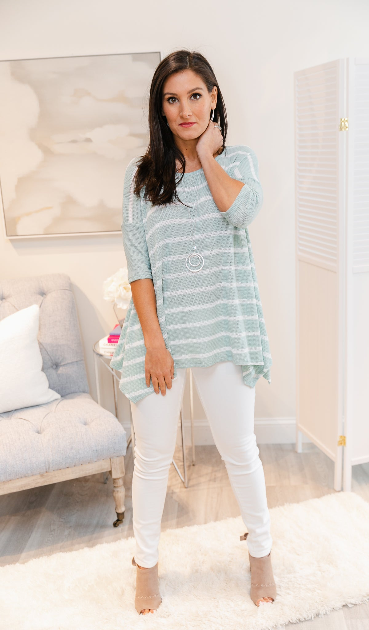 Call It Love Tunic/Top, Sage