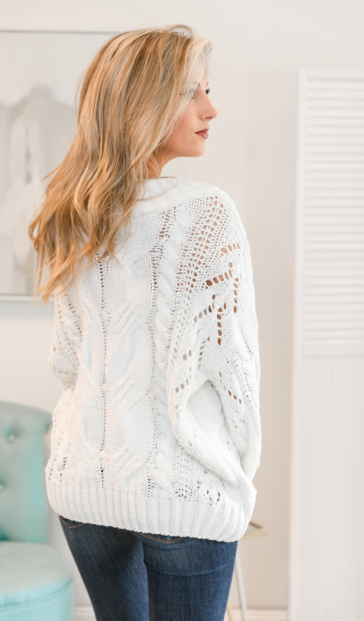 What Love Really Means Sweater, White