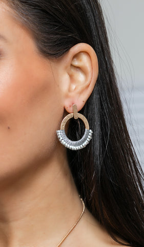 Classic Detail Earrings, Gold