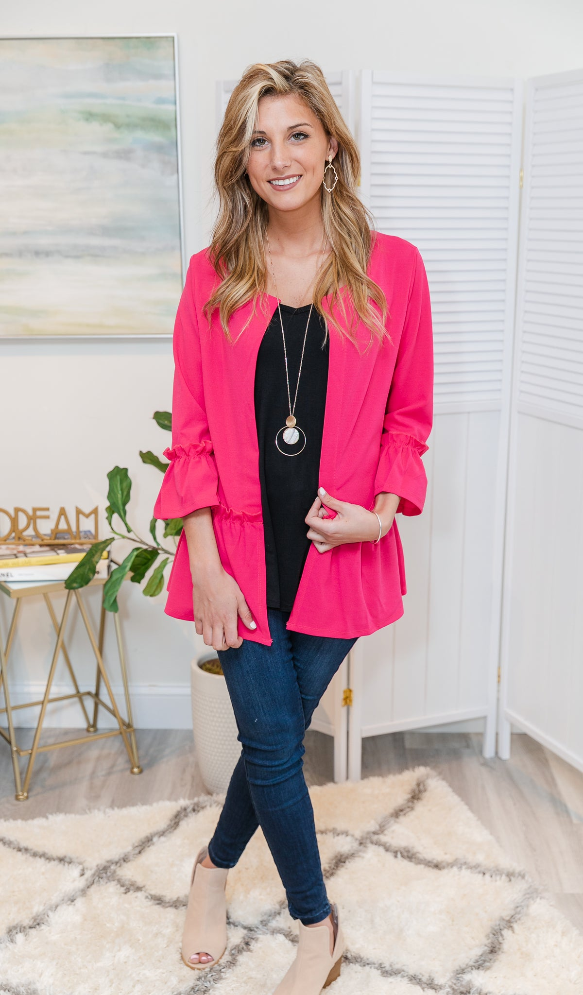 Going Places Cardigan, Fuschia