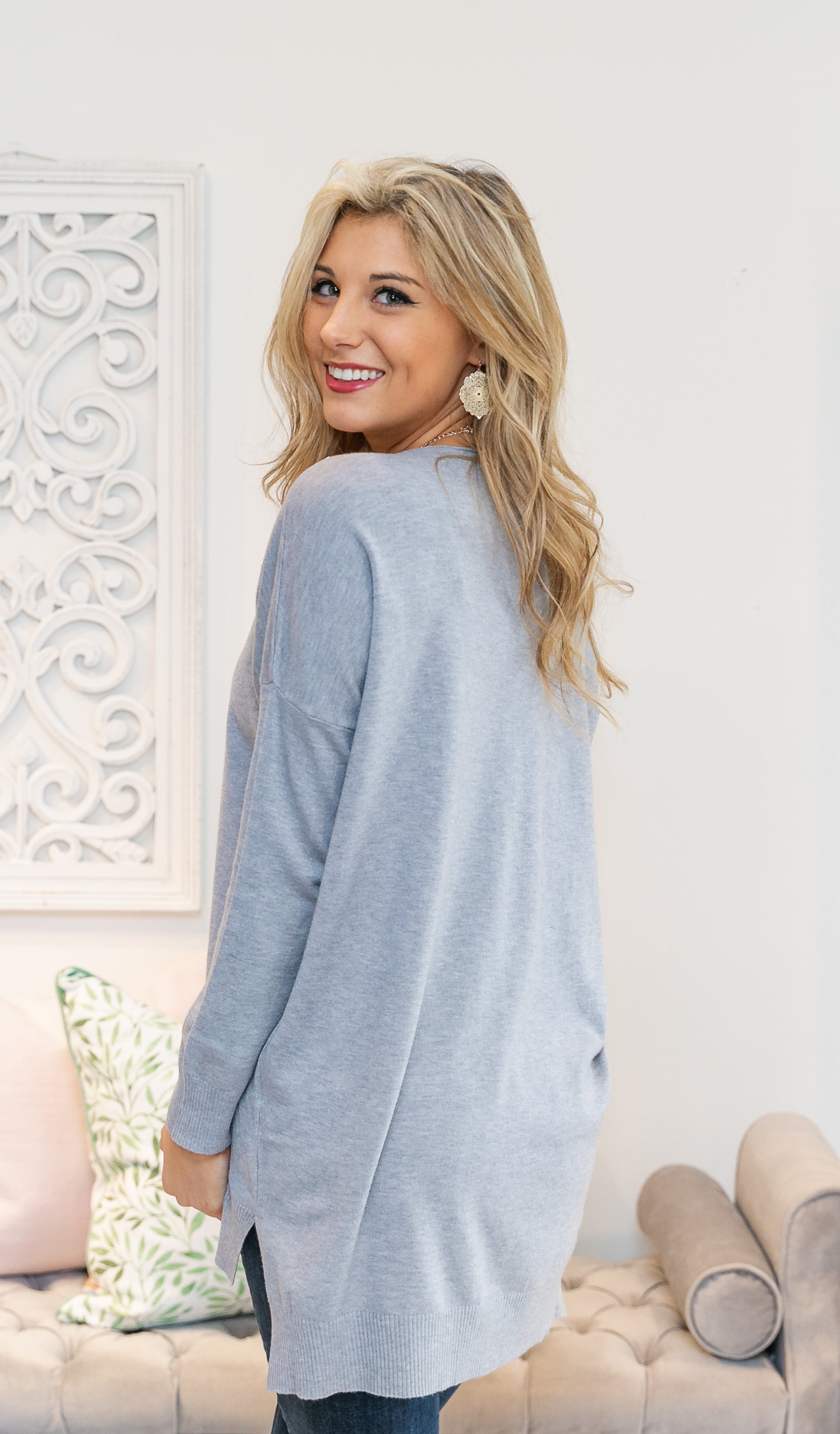 Hand In Hand Sweater,  Heather Grey