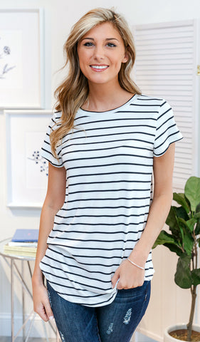In Plain Sight Top - White, Black