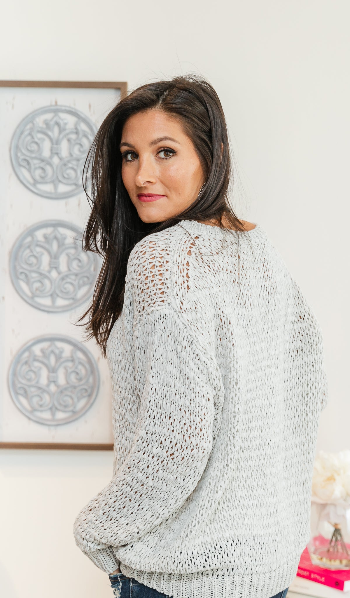 Natural Wonder Sweater,  Light Grey