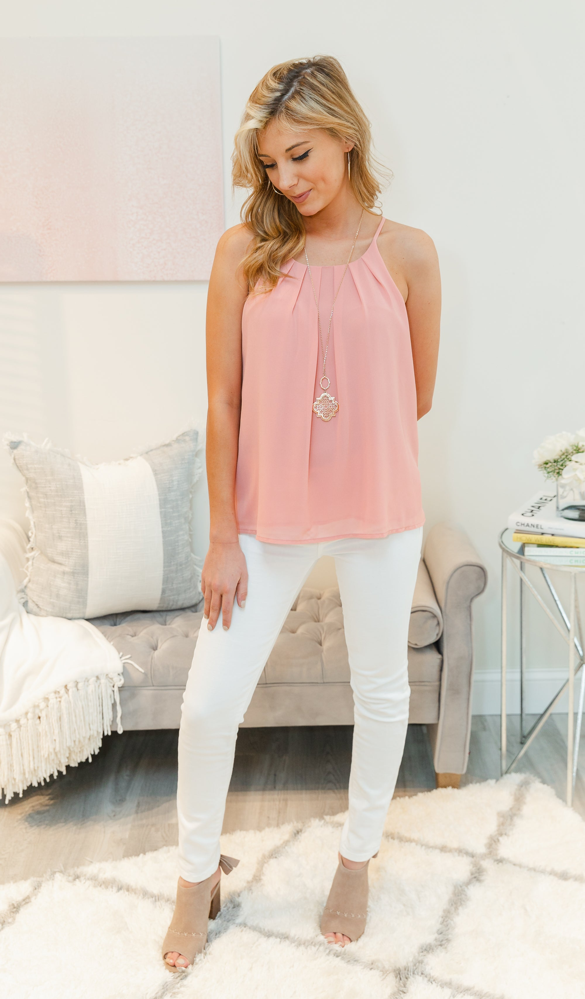 Simple Happiness Tank, Mauve