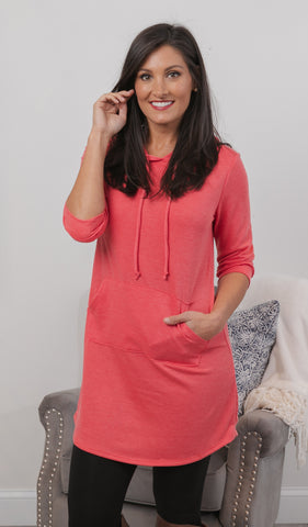 Day Dreaming Tunic, Coral