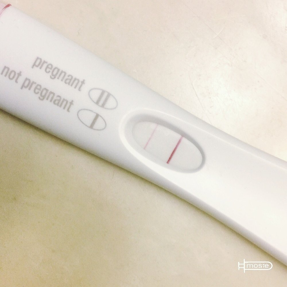 positive pregnancy test from a mosie user