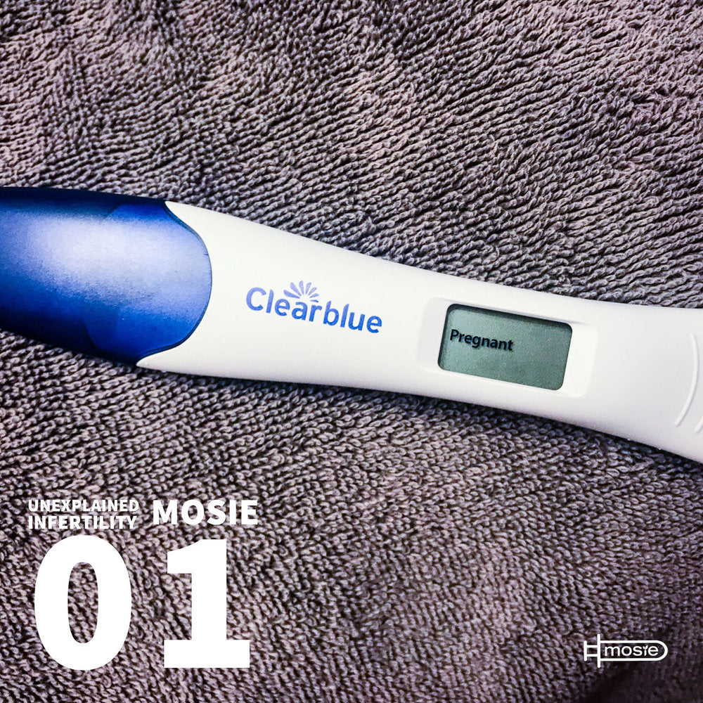 positive pregnancy test from Mosie Baby user