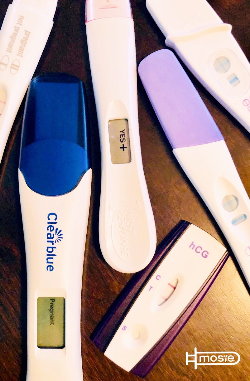 six positive pregnancy tests from a mosie user