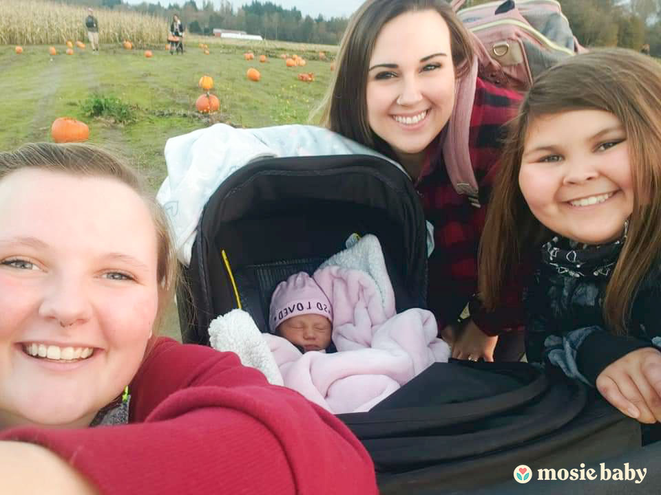 Mosie family with Mosie Baby on a family outing