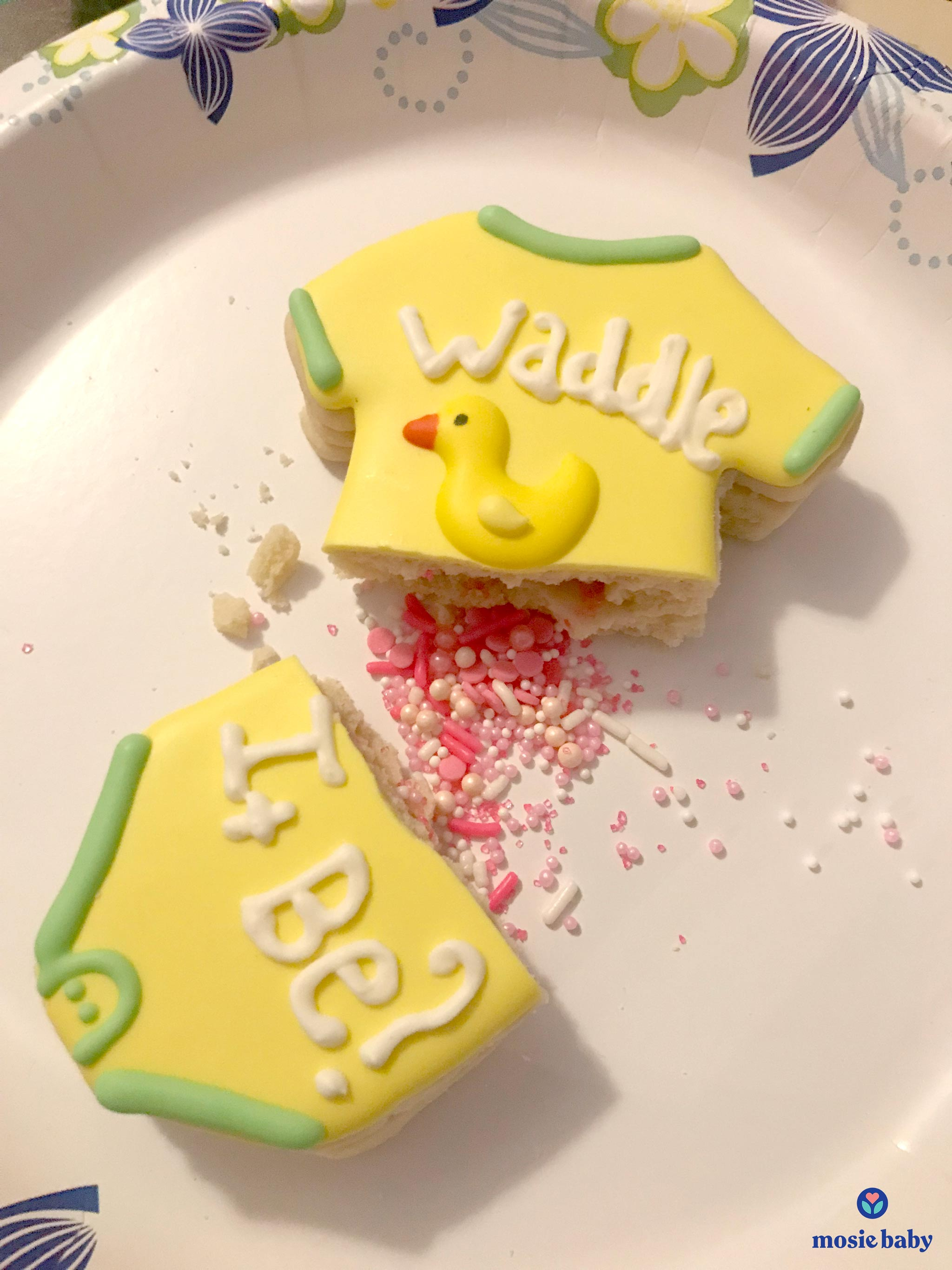 mosie baby gender reveal cake