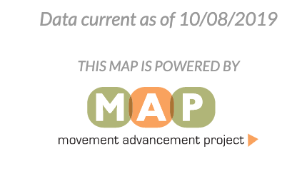 Data current as of 10/8/19, movement advancement project logo