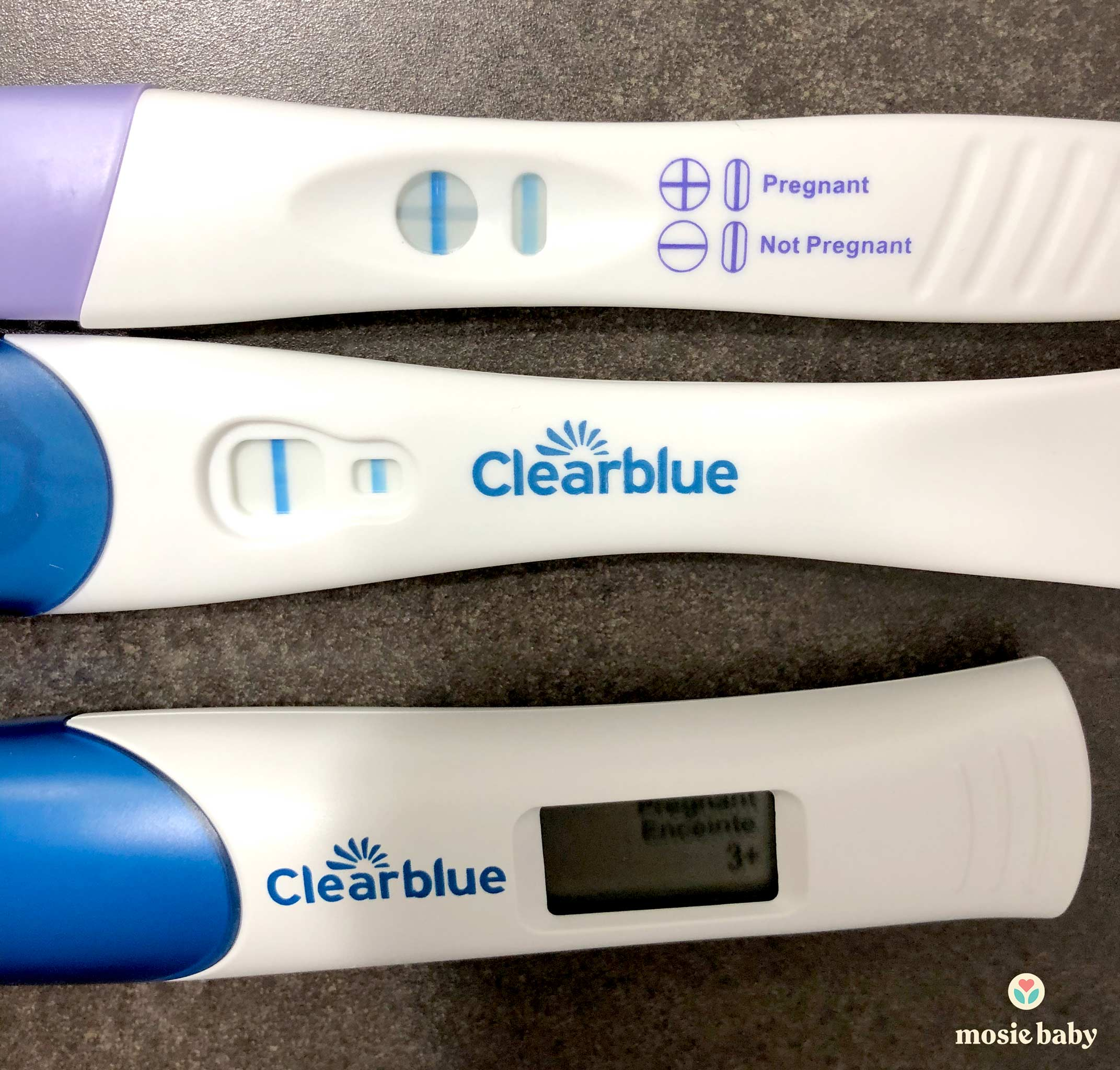 Three positive pregnancy tests
