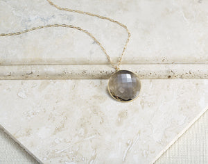 Smokey Quartz Pendant Necklace
