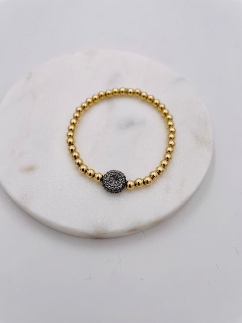 Diamond Pave Disc Bracelet
