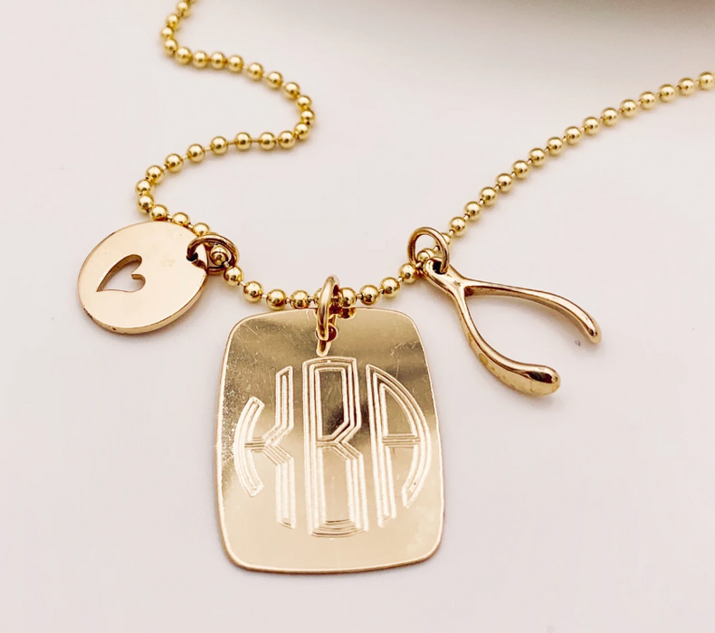 Dog Tag Charm (Click Here to Monogram)