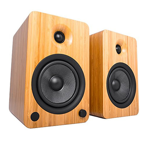 Kanto YU6 Powered Speakers with Bluetooth and Phono Preamp - Bamboo