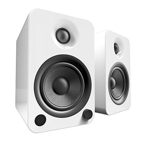 Kanto YU4 Powered Speakers with Bluetooth and Phono Preamp - Gloss White