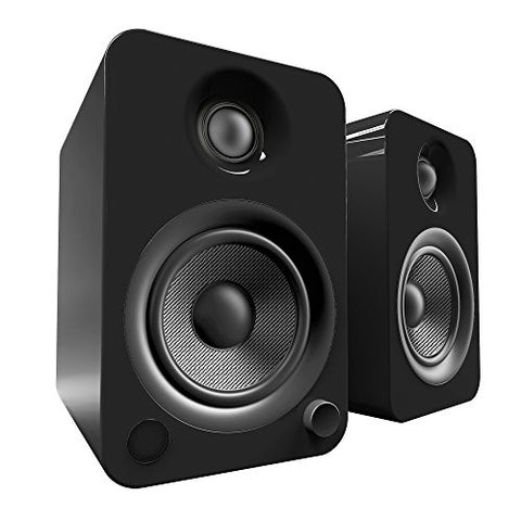 Kanto YU4 Powered Speakers with Bluetooth and Phono Preamp - Gloss Black
