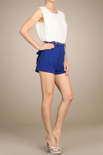 Jasmine Open back Short Romper